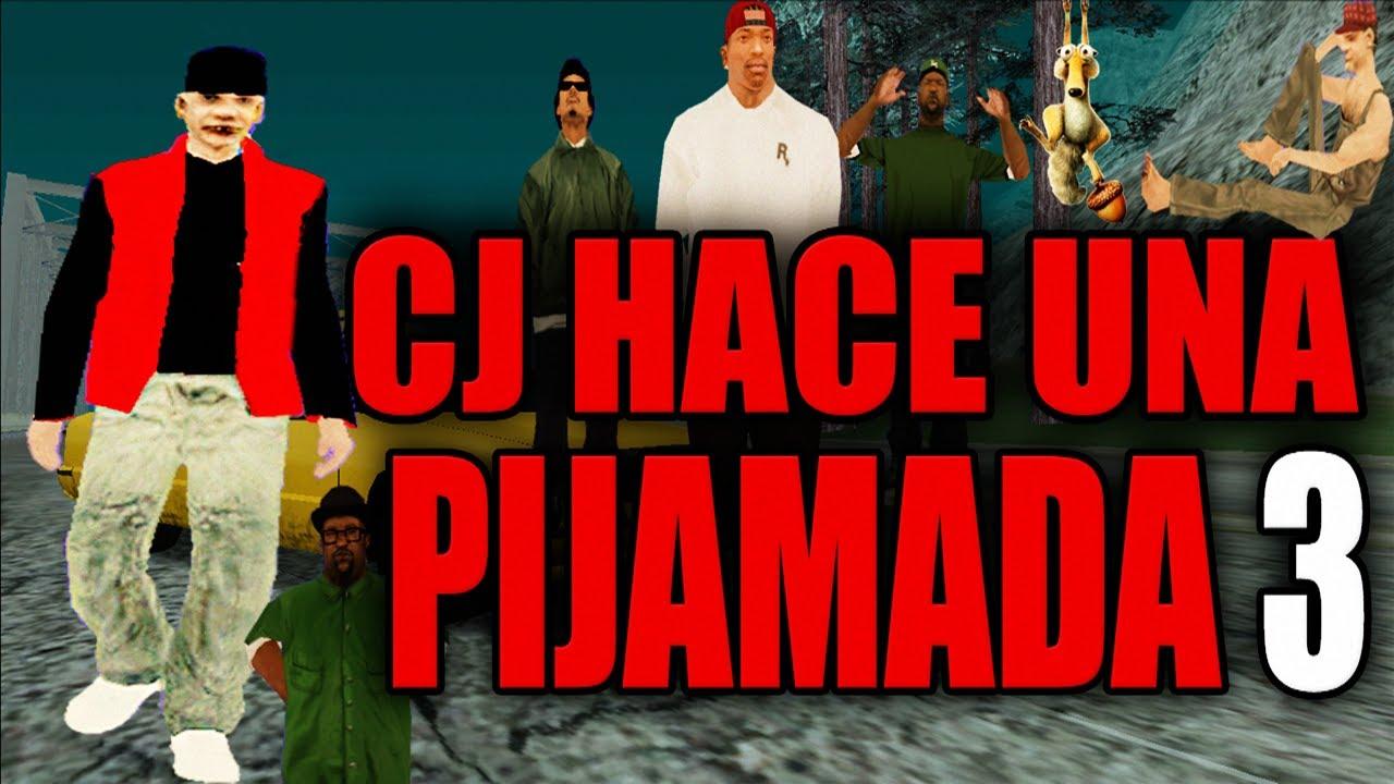 CJ HACE UNA PIJAMADA 3 ll Gta San Andreas Loquendo 2021 ll PabloLoquendoStudios