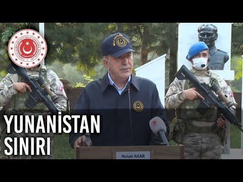 Millî Savunma Bakanı Hulusi Akar Beraberinde TSK Komuta Kademesi ile Yunanistan Sınırına Gitti