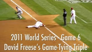 Freese Hits Game-Tying 9th Inning Triple - 2011 World Series Game 6 | Cardinals vs. Rangers 10/27/11