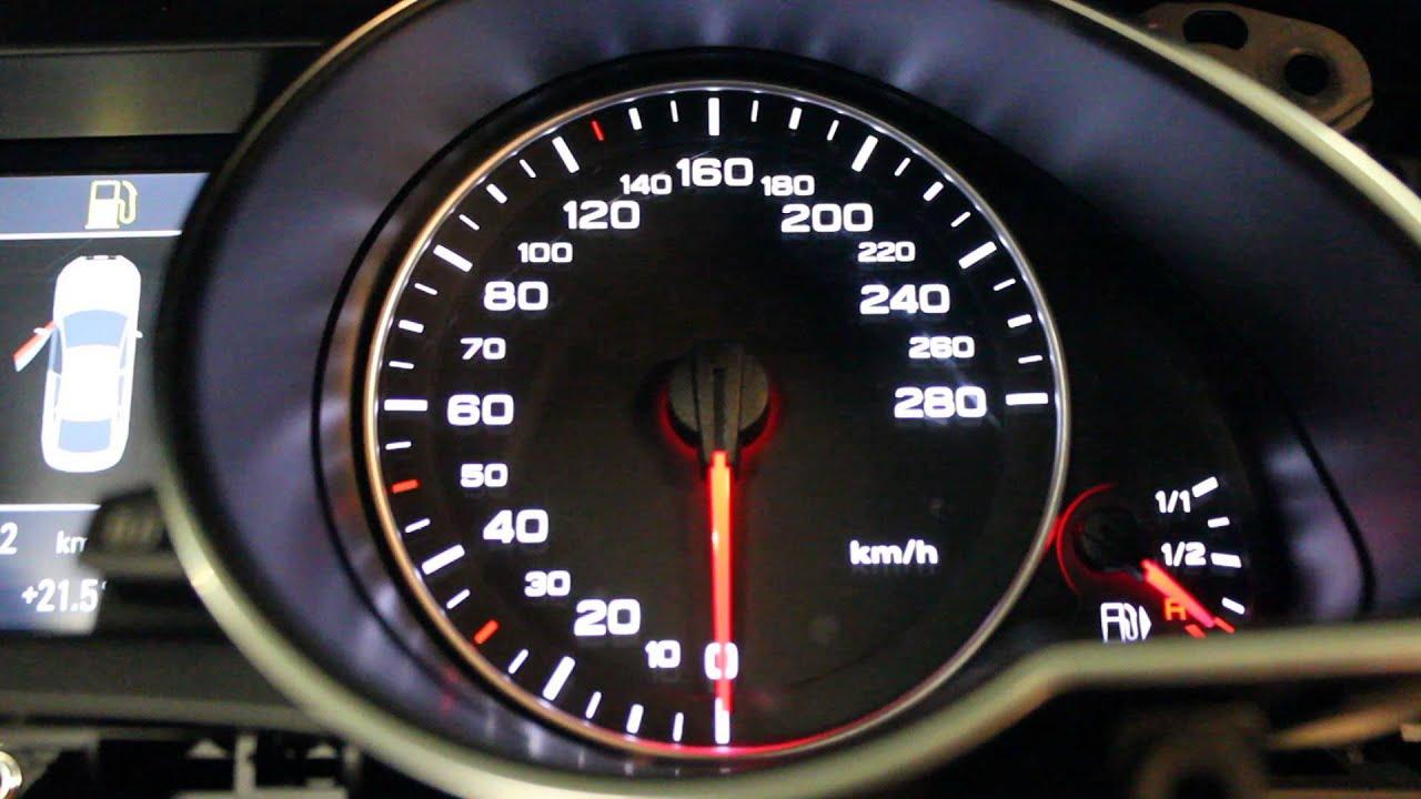 Audi A5 Tachobeleuchtung defekt - YouTube