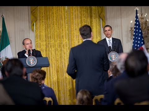 President Obama's Press Availability with President Calderón & Statement on Libya