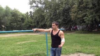 Макс Чёрный & Павел Малахов - обучалка подъём разгибом (склёпка) на брусьях [WORKOUT] =)