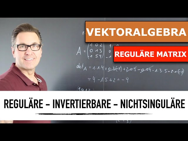 Was ist eine Reguläre Matrix?   Wie berechne ich reguläre Matrizen?   lineare Vektoralgebra