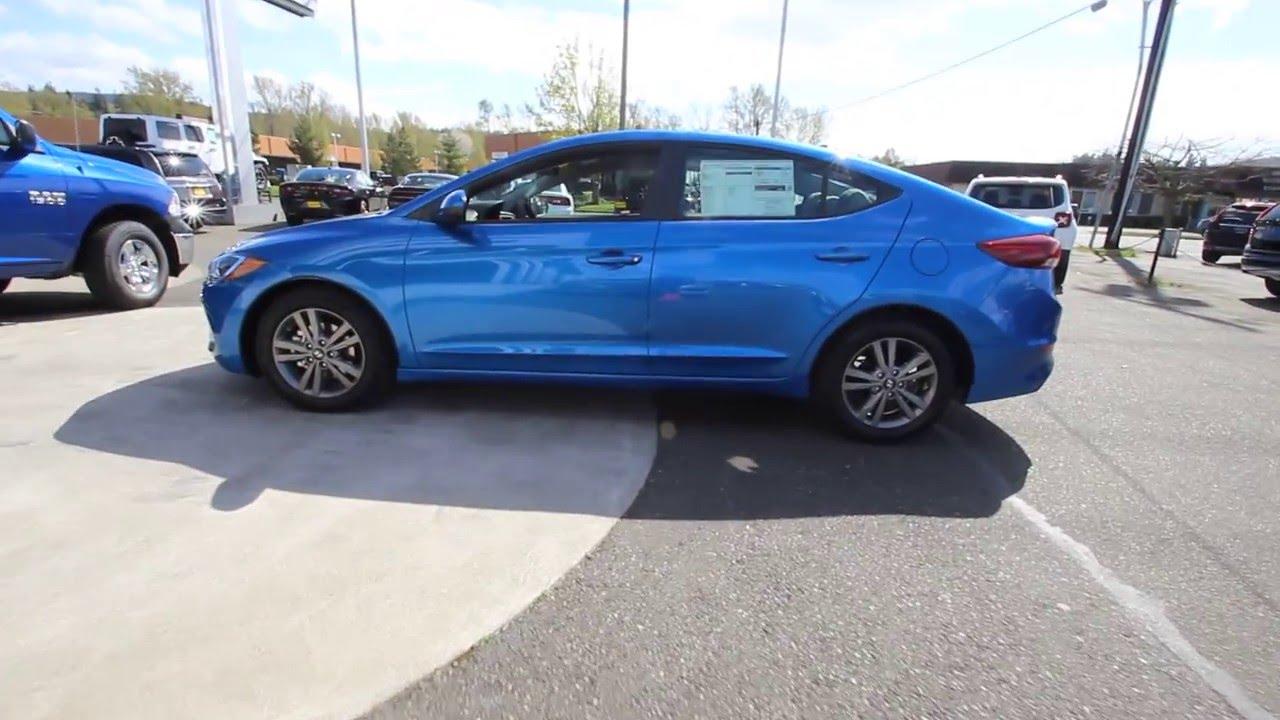 2017 Hyundai Elantra Se Electric Blue Hh041196 Skagit County Mt Vernon