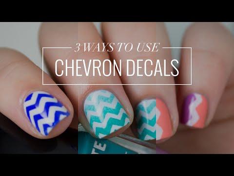 3 Ways to Use... Chevron Nail Art Decals | Easy Nail Art | The Nailasaurus