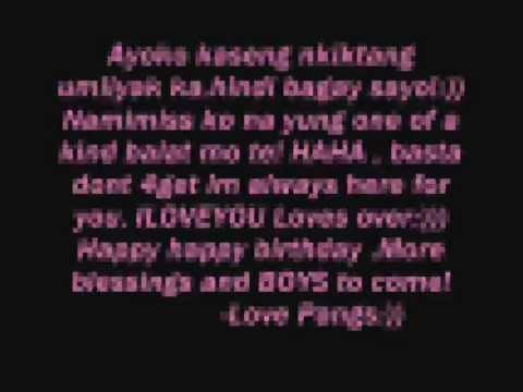 Janikka quot nikka quot tungcab birthday amp farewell messages from your bst 1