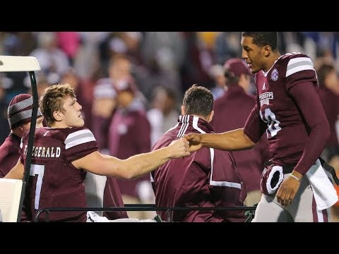 Mississippi State quarterback Nick Fitzgerald: suffers an ankle injury during the game.