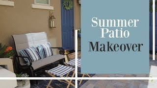 PATIO MAKEOVER // SUMMER 2019 // BEFORE AND AFTER