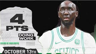 Tacko Fall SHOWS UP! 4 points in 6 minutes! Preseason highlights October 12, 2109