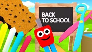Przybory szkolne dla dzieci - Kształty dla dzieci w szkole | CzyWieszJak