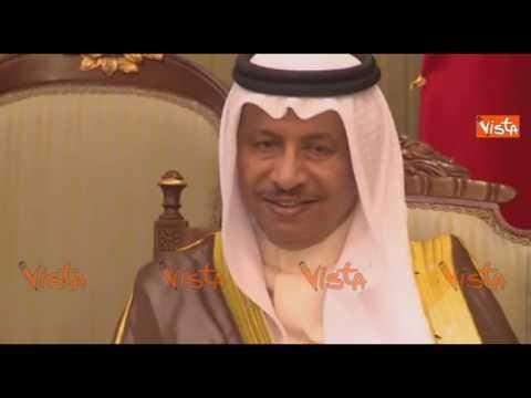 Gentiloni incontra l'emiro del Kuwait Al Ahmad