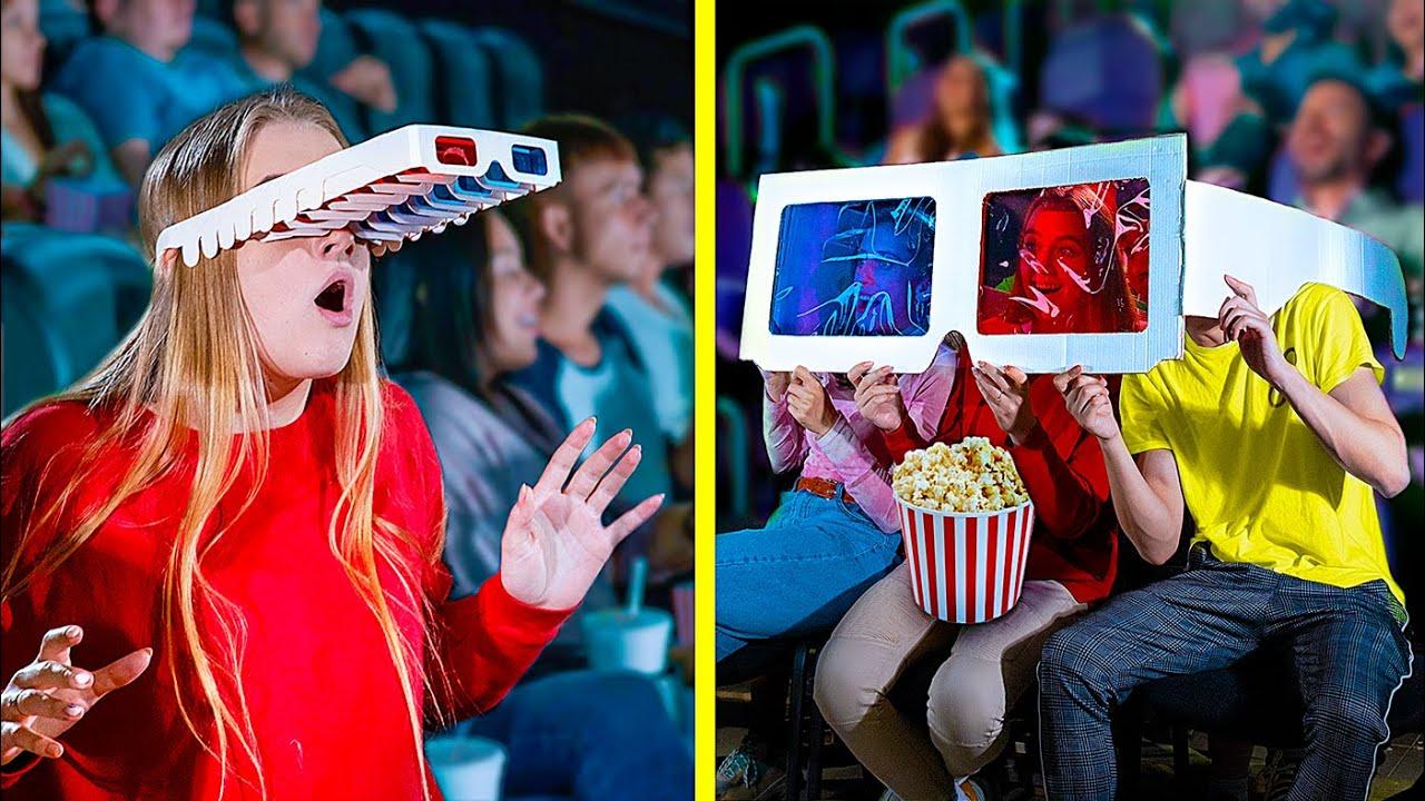 14 Movie Theater Pranks! / Funny Ways to Sneak Snacks into the Movies
