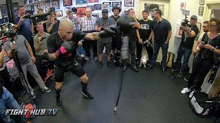 MIGUEL COTTO - DOUBLE END BAG WORKOUT - GO PRO HERO 6