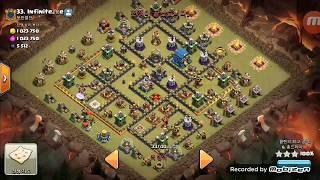 Clash of Clans Clan War Replay   TH12 War   3La + 34loon + Wrecker(Valkyrie)   COC 2018   Fusion