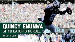 Quincy Enunwa's 51-Yard Gain & 3rd-Down Hurdle Lead to Powell's TD! | NFL Wk 17 Highlights