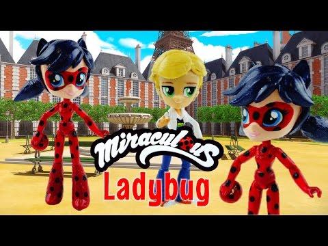 LADYBUG - Miraculous Ladybug & Cat Noir My Little Pony Custom Doll DIY from Equestria Girls Mini