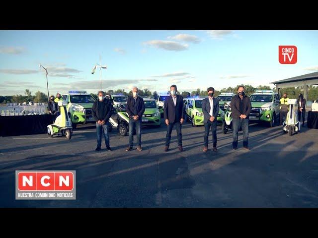 CINCO TV - Juan Andreotti y Sergio Massa presentaron 16 nuevos móviles y cámaras de seguridad