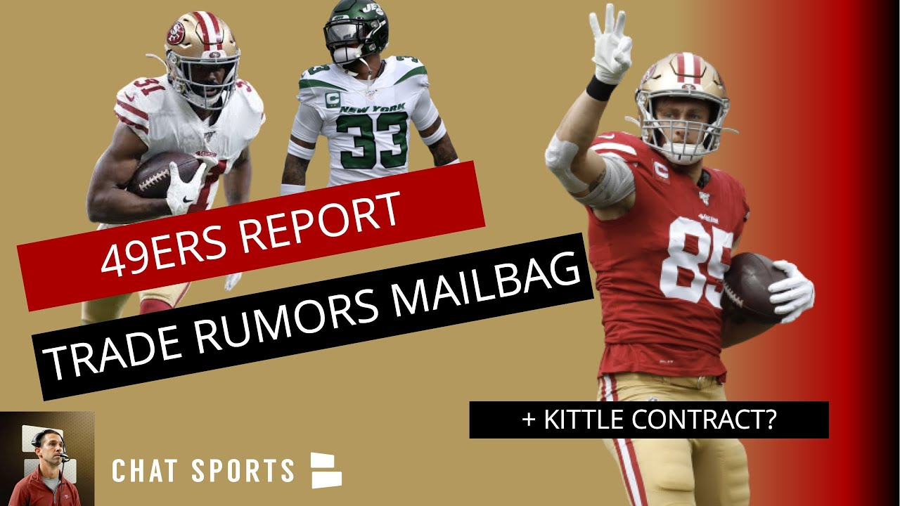 49ers Trade Rumors On Raheem Mostert, Jamal Adams & David Njoku + George Kittle Contract | Mailbag