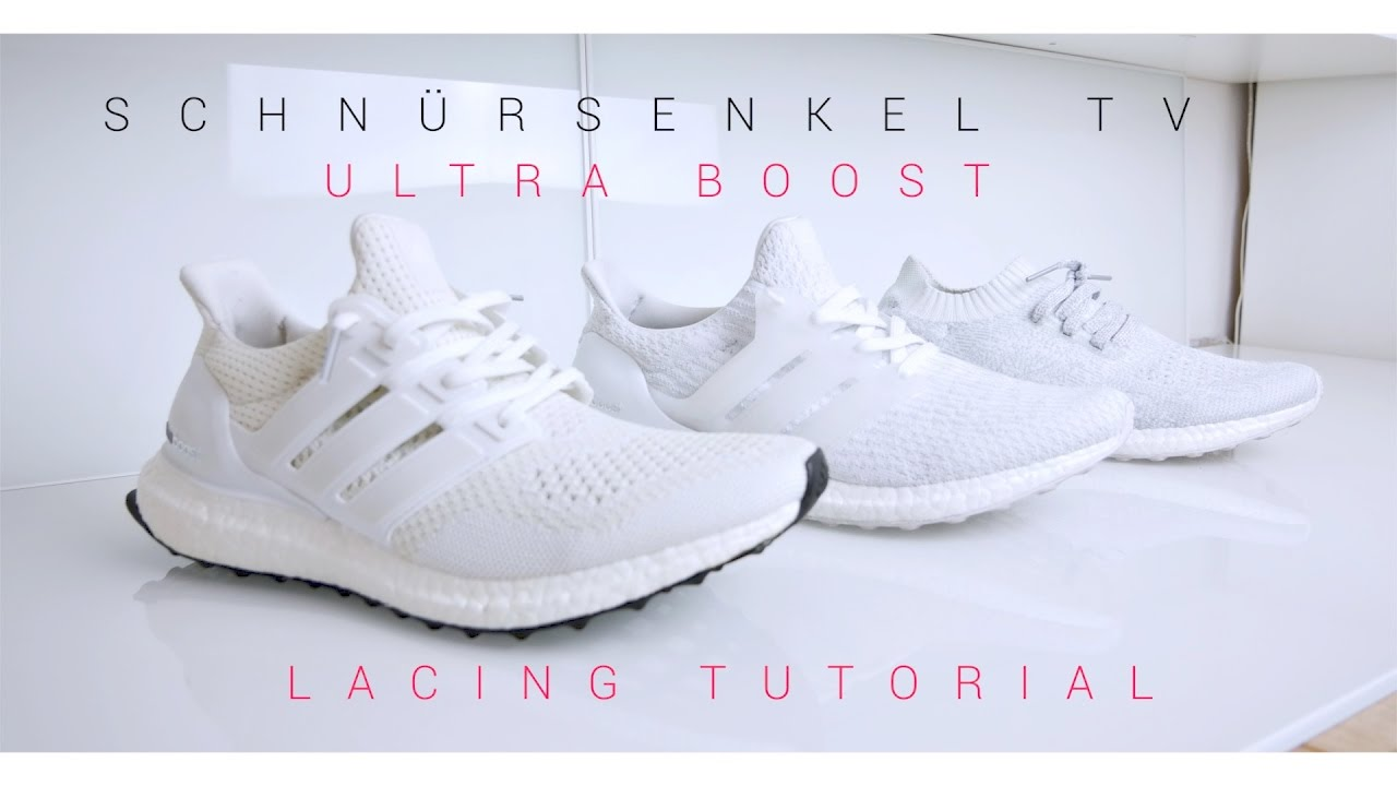 b2417729e3859 Lacing tutorial adidas ultra boost 1.0 - 2.0 - 3.0 - uncaged - 100 sub free  giveaway - triple white