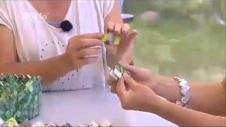 Se hvordan man fletter led til rækker - Candy Wrap-flet