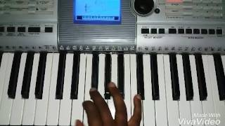 Neeralli Sanna Aleyondu moodi song on keyboard