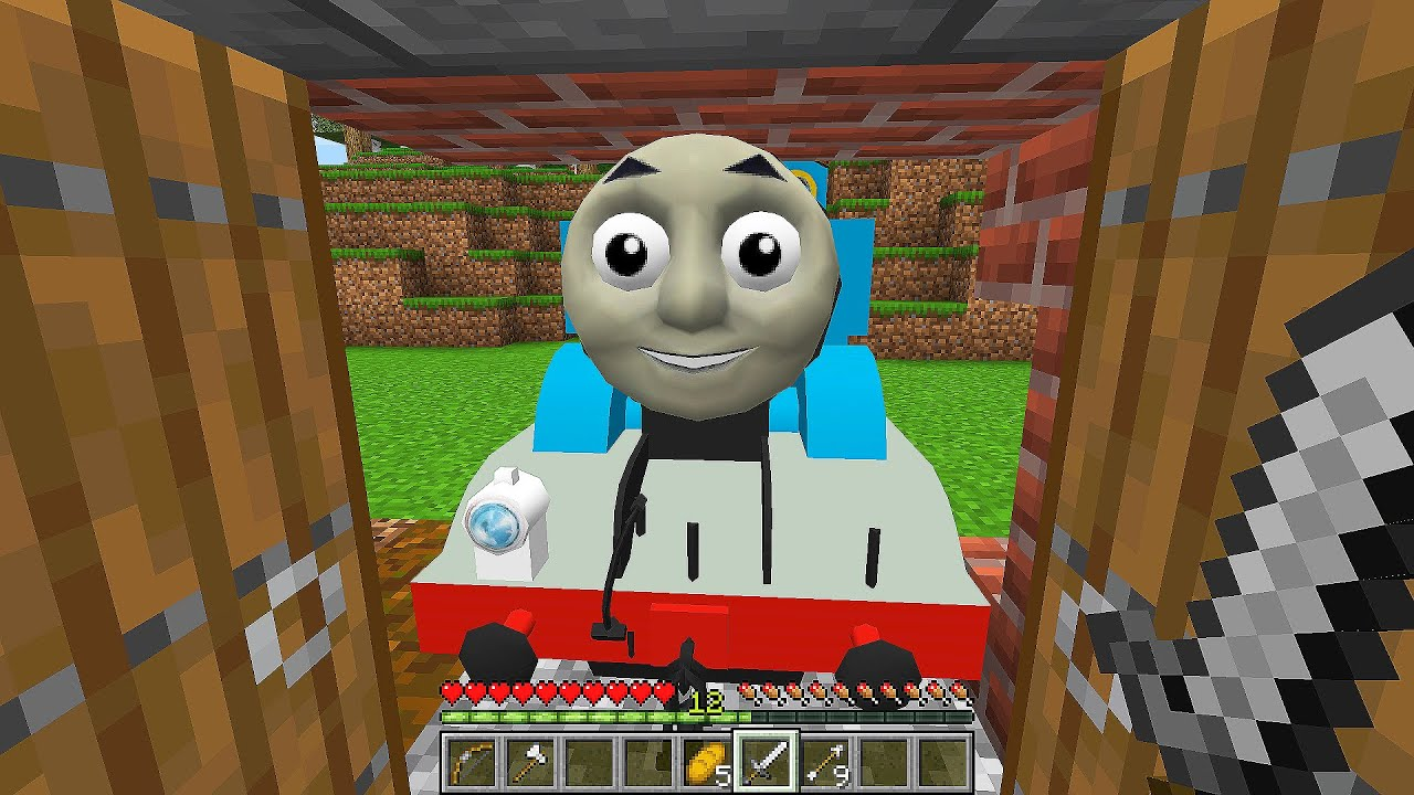 DON'T watch at THOMAS THE TANK ENGINE and FRIENDS in MINECRAFT