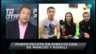 Entrevista a De Marcos y Koikili en Punto Pelota en casa de De Marcos 5-4-12 Jueves Santo
