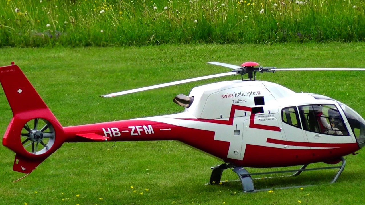 RC TURBINE SCALE EUROCOPTER EC-120B PFAFFNAU MODEL HELICOPTER