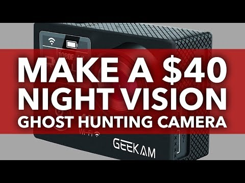 How To Make An Infrared Night Vision Camera For Ghost Hunting | Very Easy