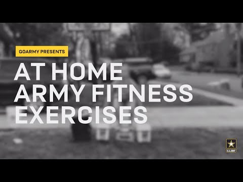 At Home Army Fitness Exercises | GOARMY