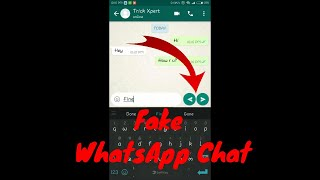 How To Create Fake WhatsApp Conversation With Fake WhatsApp Chat App