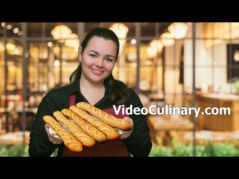 French Baguette Recipe - Homemade Bread by Video Culinary
