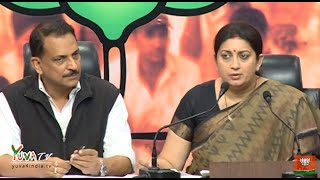 Press on the deteriorating law and order situation in Kerala by Shri R.P Rudy & Smt. Smriti Irani