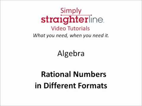 How to Write Rational Numbers in Different Formats