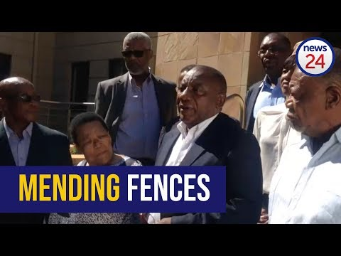 WATCH: Cyril Ramaphosa reconnects with ANC stalwarts