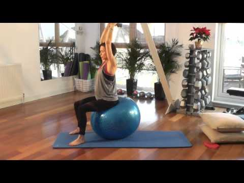 Pregnancy Exercise From Home - Pre Natal Exercise On The Swiss Ball.