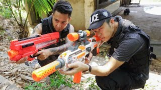 Hero Nerf War : SWAT & Special Police Nerf Guns Squad Mercenary Hero Girl Nerf War
