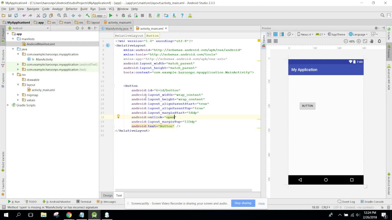 Create Android app to play audio file from server in Android Studio