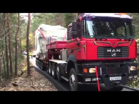 Transport av ny tranformator til Evanger stasjon