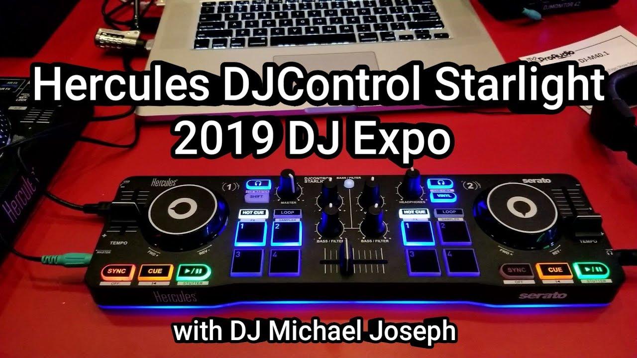 Hercules DJControl Starlight - 2019 DJ Expo with DJ Michael Joseph