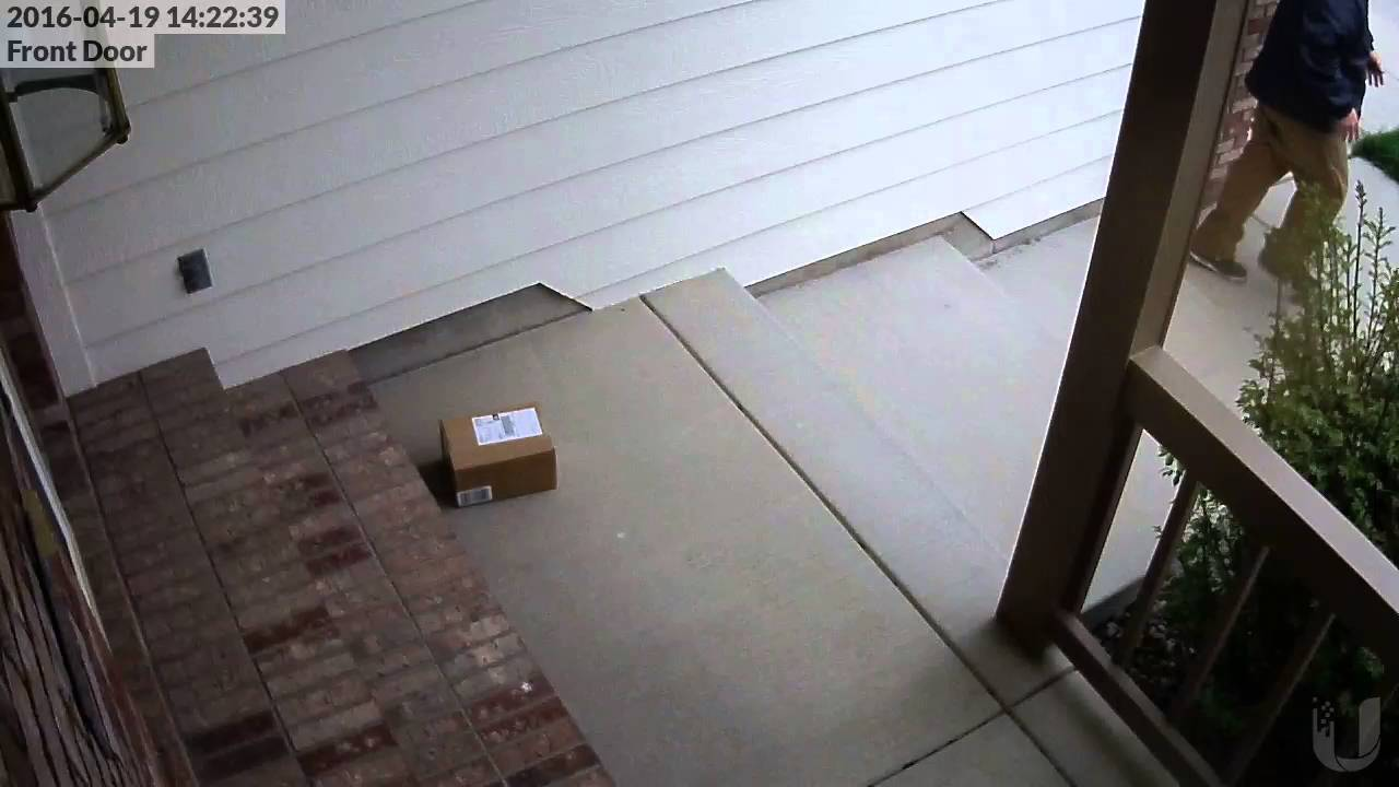 Ontrac shipping throws package - YouTube