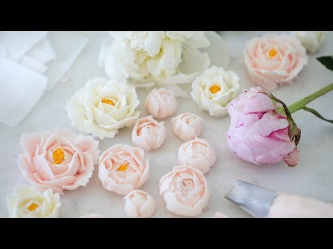 How to Make Buttercream Flowers - YouTube