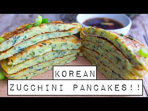 EASY KOREAN ZUCCHINI PANCAKES!! | VEGAN + GLUTEN-FREE (Hobak Buchim) 바싹 호박 부침개