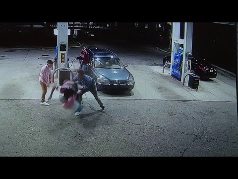 Kat Jackson - Spring Breakers Fight Off Armed Robber at Gas Station