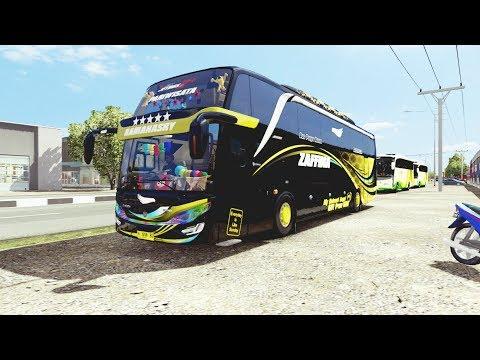 TEST DRIVE BUS SHD ZAFFINA BABY R, DI MAP JOWO V7.1 TERBARU (LINK MAP DI DESKRIPSI)