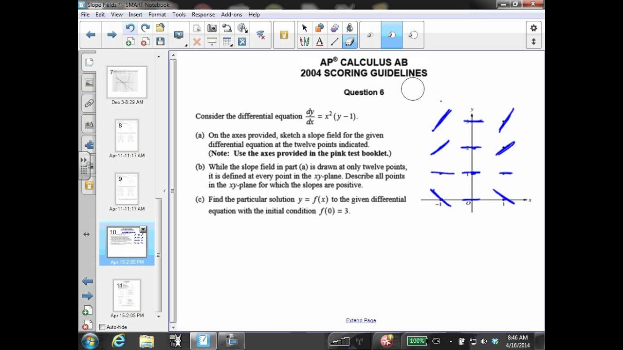 AP Calculus AB 2004 FRQ #6 - YouTube