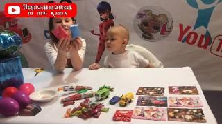 игрушки пазлы челлендж Миланы и Данила