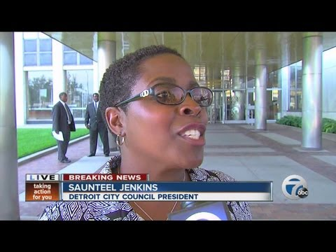 Detroit City Council president reacts to bankruptcy filing