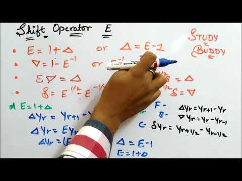 Shift Operator (E) II Finite Differences