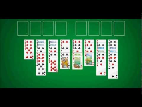 FreeCell Demonstration (Windows 7) - YouTube